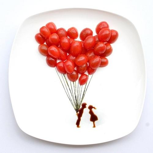 Ballon van cherrytomaat