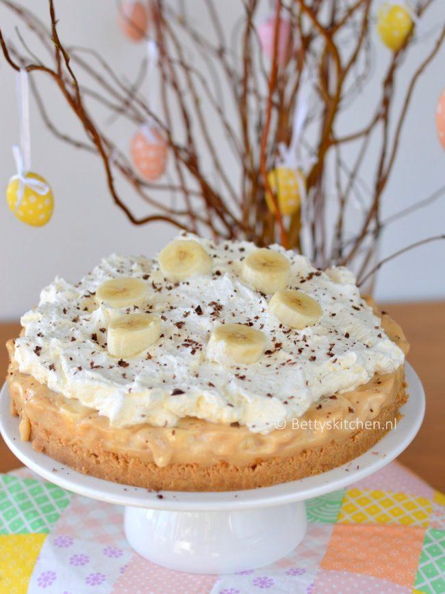 10x Taart voor Pasen recepten - Banoffee Pie (banaan-karamel taart)