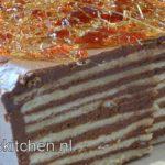 dobos torta chocolade laagjestaart