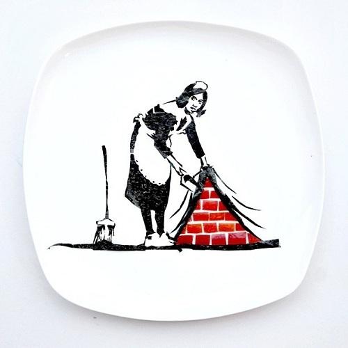Huishoudster van nori en appel