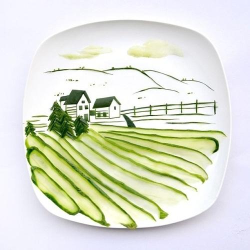 Komkommer landschap