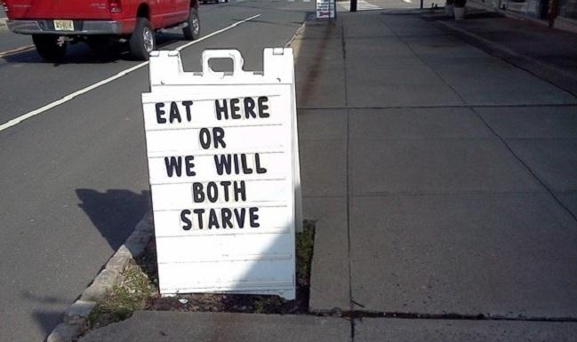 10x reclameborden met humor