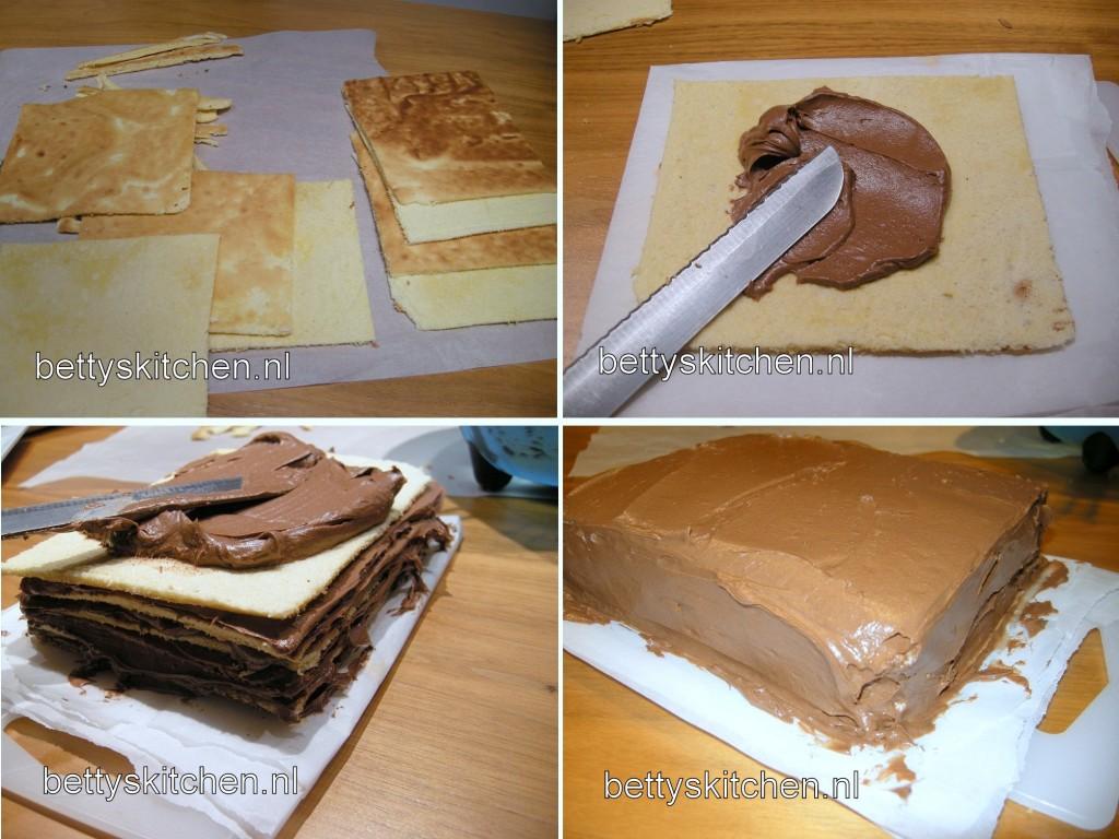 Dobos Torta chocolade laagjes taart