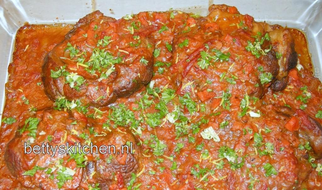 Recept voor Ossobuco alla Milanese (Kalfsschenkel uit Milaan):