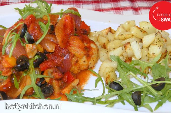 Kip met chorizo (op Spaanse wijze)