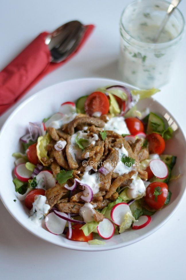 Shoarma salade