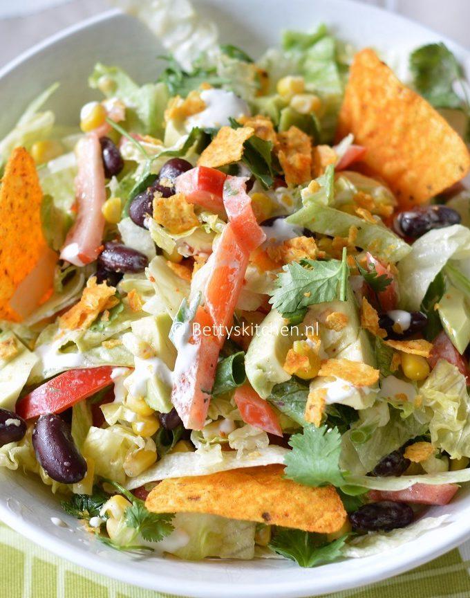 Vegetarische mexicaanse salada