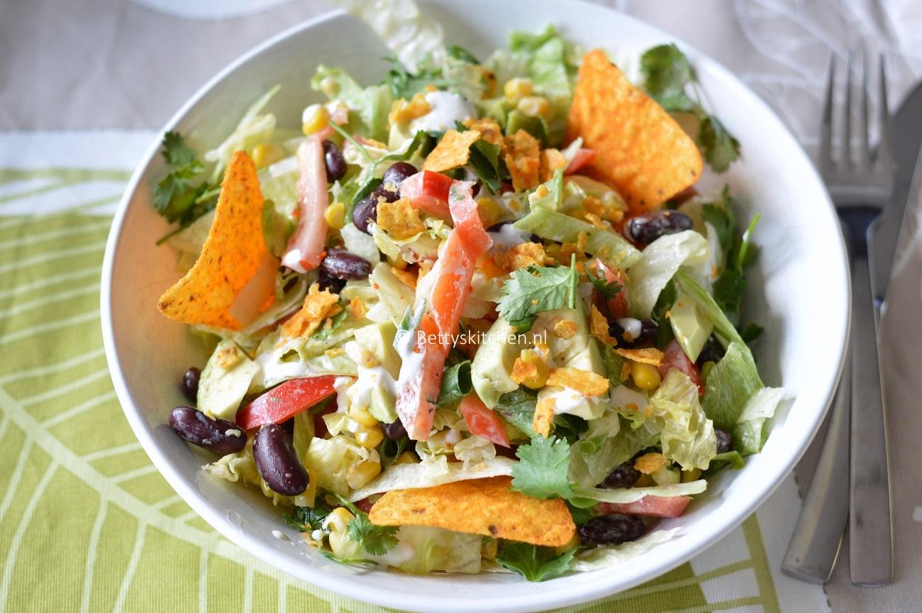 Vegetarische Mexicaanse salade