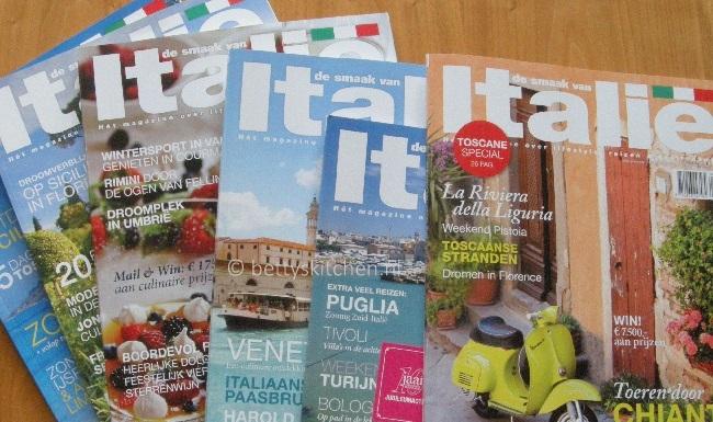 WIN: een jaarabonnement op De Smaak van Italië magazine t.w.v. € 35.95 !
