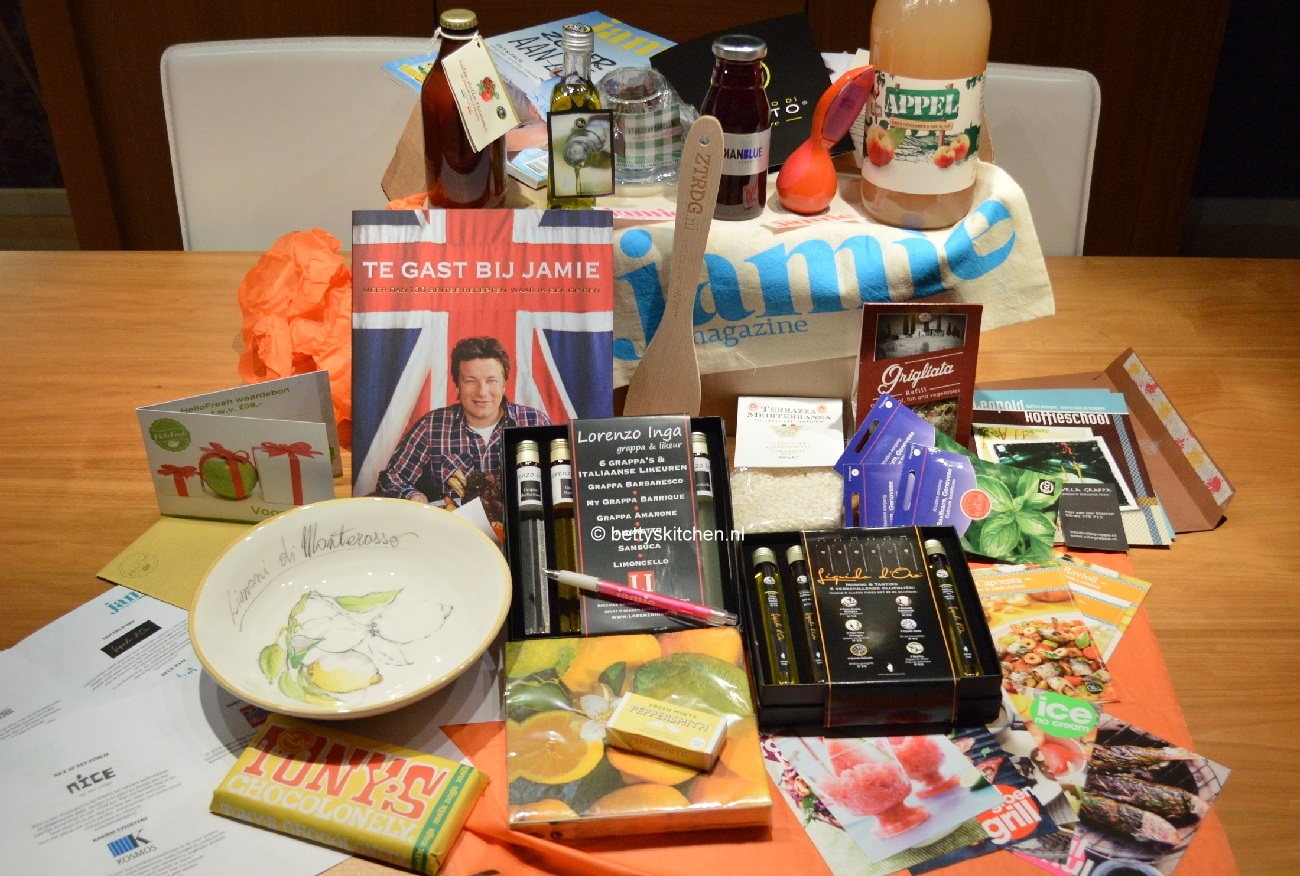 de goodie bag van het Jamie Magazine foodbloggers event