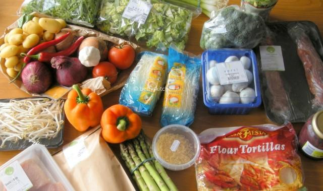en heel veel verse en biologische groenten van Hello Fresh