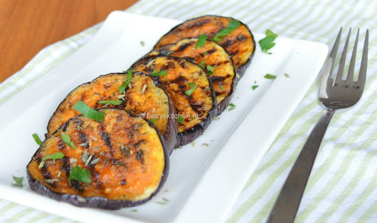 Aubergine met knoflook | Recept | Bbq recepten, Groenten