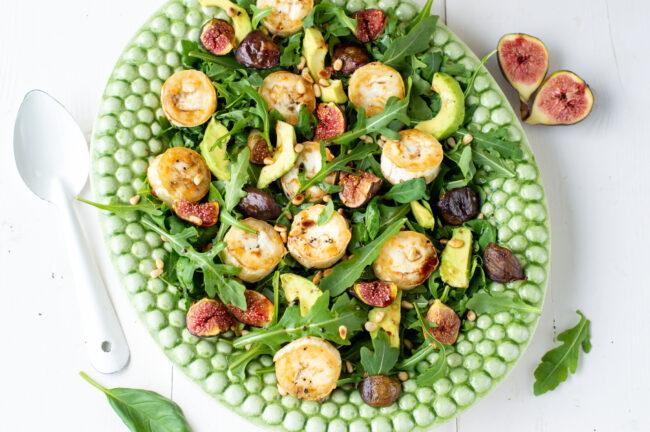 salade met gegrilde geitenkaas en vijgen uit de oven © bettyskitchen.nl