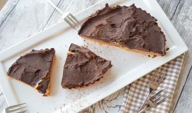 Chocolade-Karamel taart