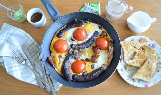 Brits eenpans ontbijt