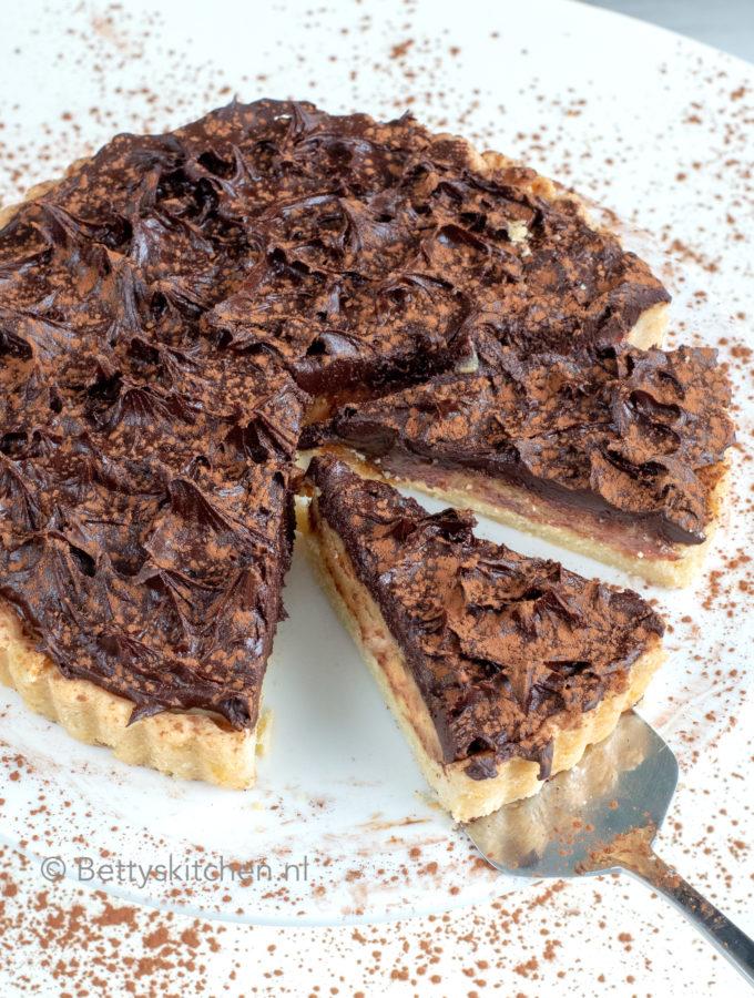 recept chocolade karamel taart © bettyskitchen.nl