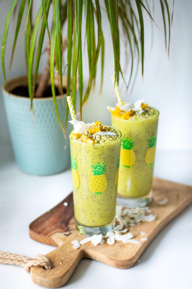 recept tropische smoothie met kokoswater en mango © bettyskitchen.nl