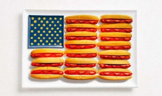 Vlaggen van voedsel