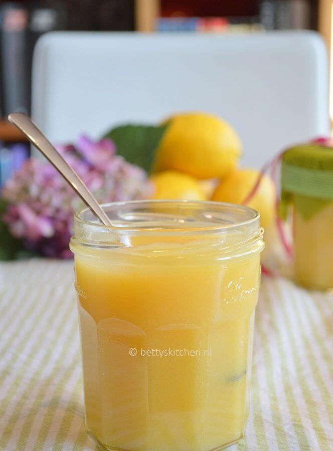 zelf lemon curd maken recept