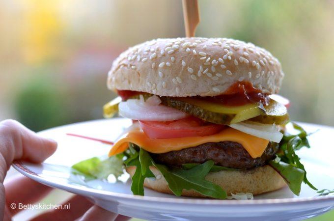 Het klassieke broodje hamburger