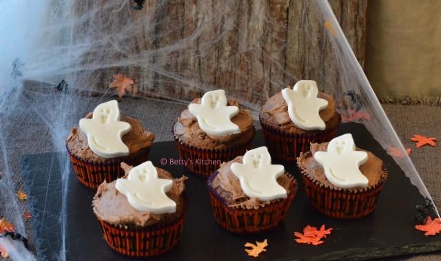 Spookjes Cupcakes met Chocolade