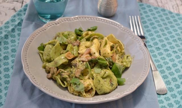 Tortellini ai Funghi (pasta met champignons)