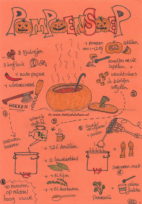 halloween pompoensoep printable recepten kaart © bettyskitchen