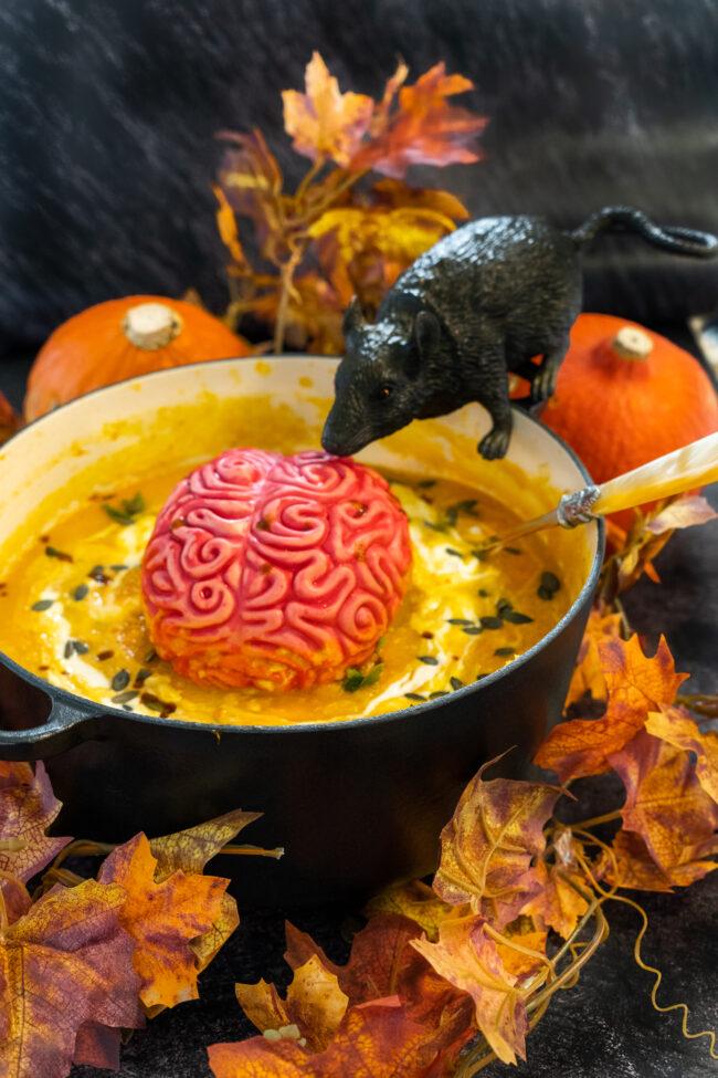 recept halloween pompoensoep met knolselderij © bettyskitchen.nl