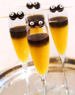 halloween drankjes en cocktails recepten © bettyskitchen monster mimosa