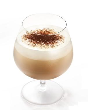 Een romige koffie cocktails