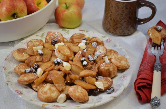 Poffertjes met gesuikerde appel
