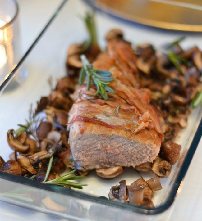 Varkenshaas uit de oven (met champignons)