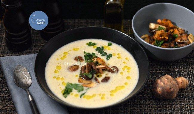 10x Winter soep recepten - aardpeersoep met truffelolie