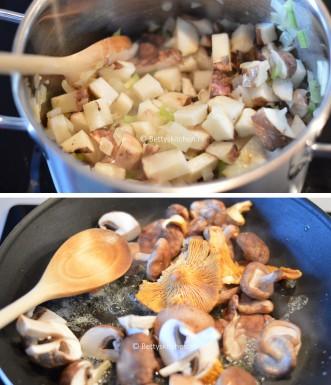 Aardperensoep met truffelolie