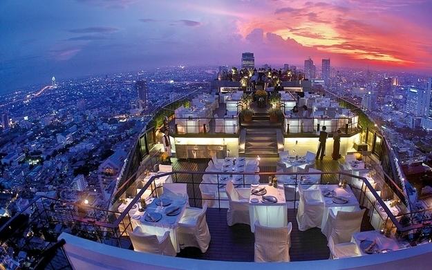 Restaurants met spectaculair uitzicht vertigo bangkok