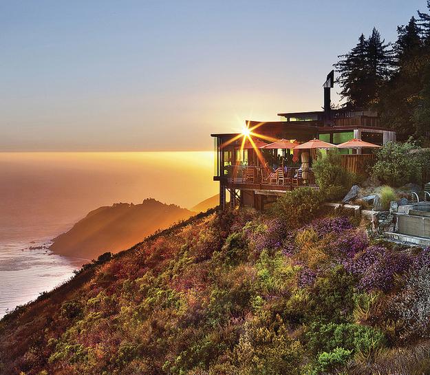 Restaurants met spectaculair uitzicht Big Sur