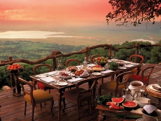 Restaurants met spectaculair uitzicht Ngornongoro afrika