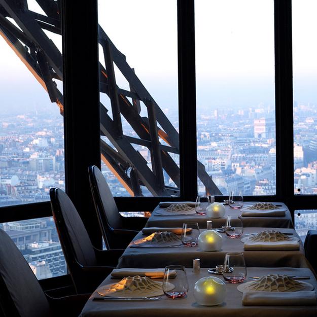 Restaurants met spectaculair uitzicht le jules verne parijs