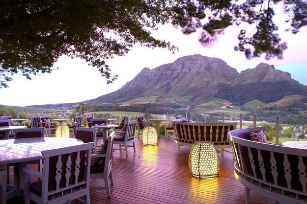 Restaurants met spectaculair uitzicht stellenbosch zuid afrika