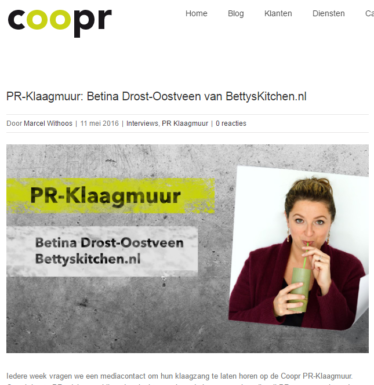 bettyskitchen in de media 2016 mei COOPR