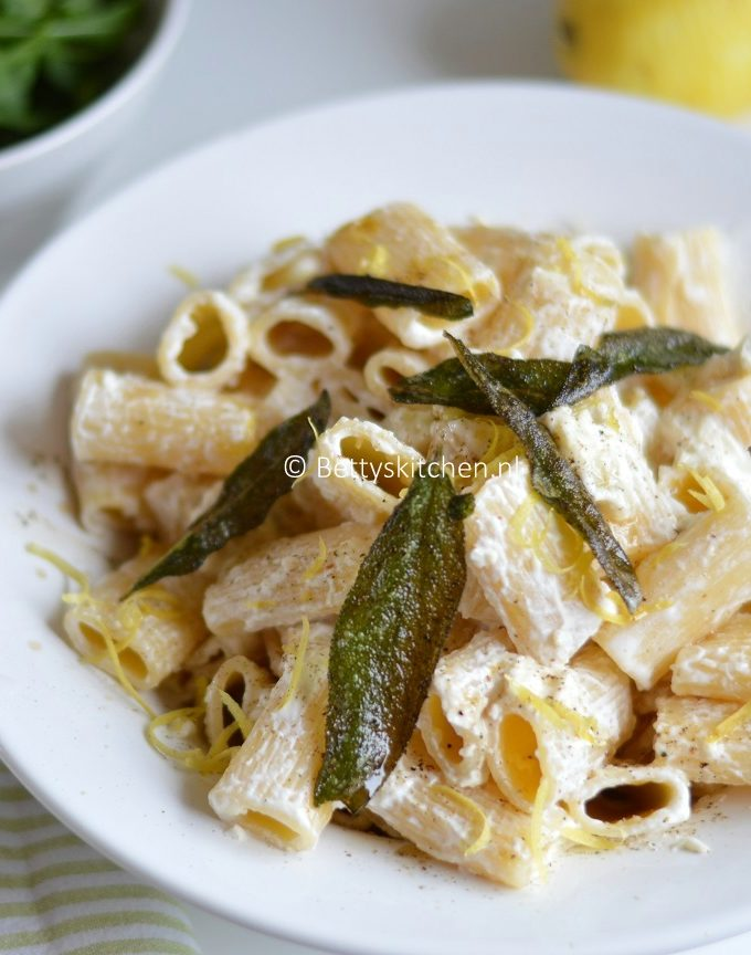 pasta met drie kazen