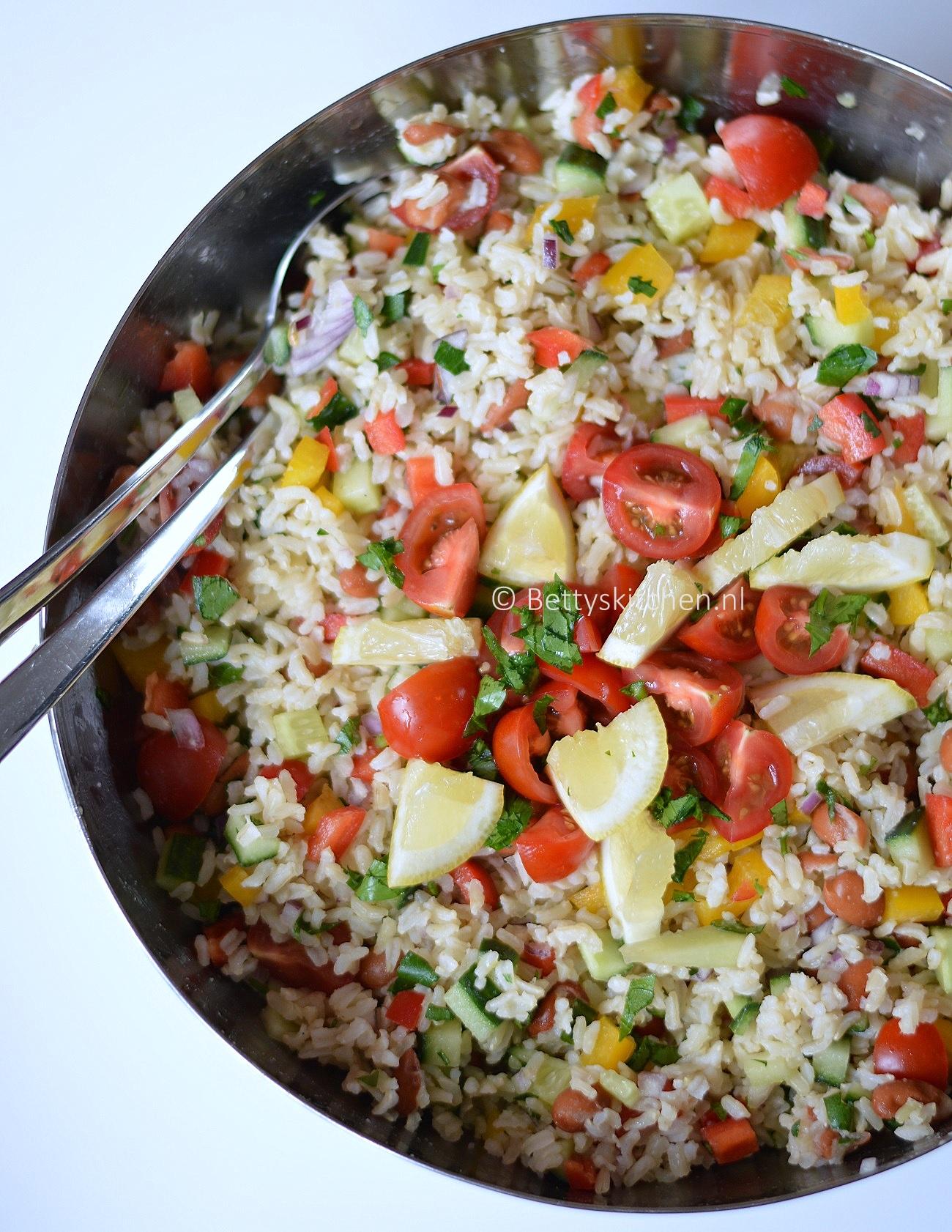 Fabulous Recept: Koude Rijstsalade voor bij de BBQ - Betty's Kitchen Foodblog @PL12