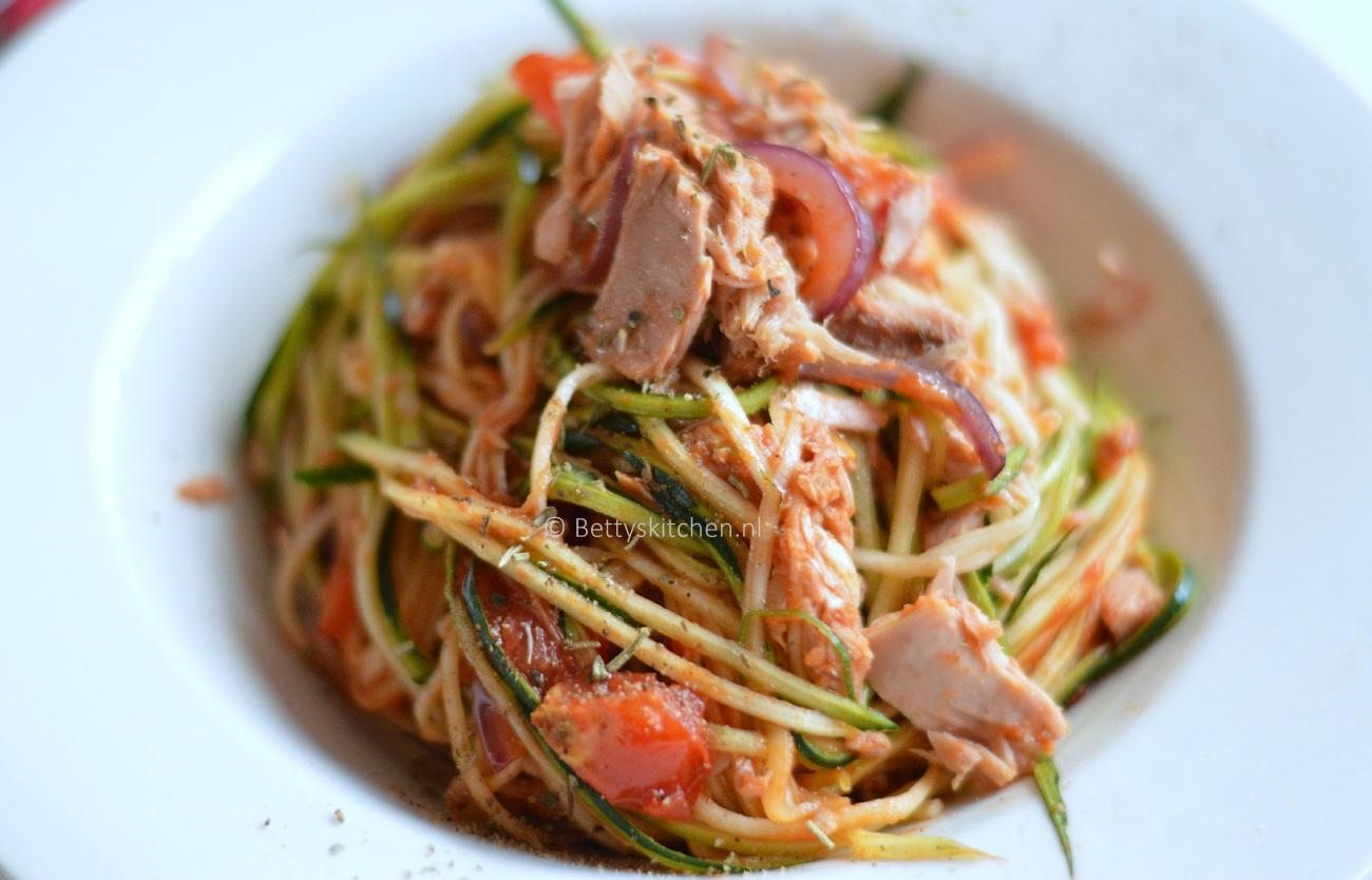 Populair Courgetti met tonijn | Recept | Betty's Kitchen glutenvrije recepten &UX44