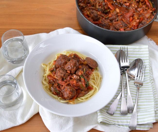 spaghetti met gehaktballen (meatballs spaghetti)