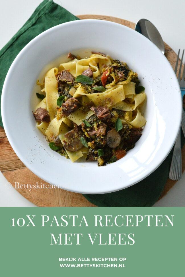 10x pasta recepten met vlees © bettyskitchen.nl