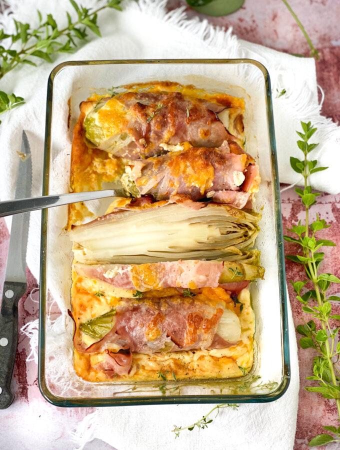 recept witlof uit de oven met ham kaas en ei © bettyskitchen.nl