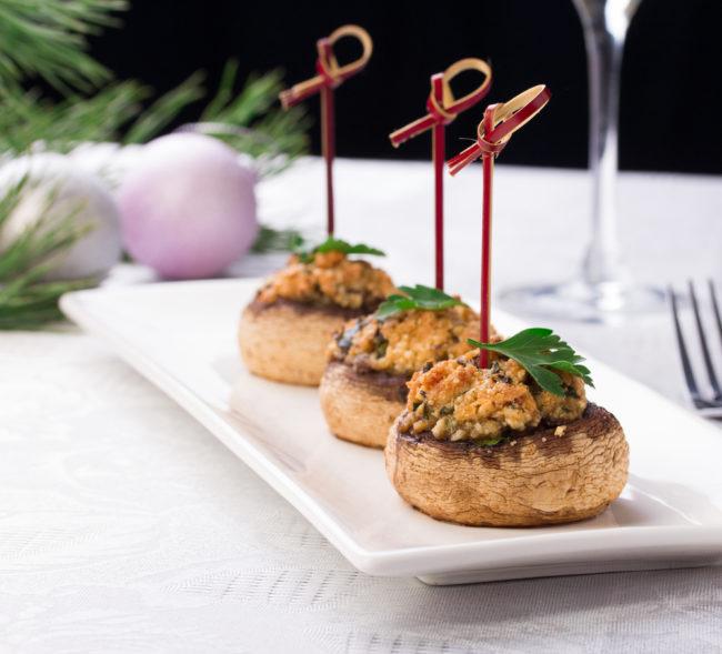 gevulde champignons uit de oven