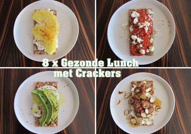 8x gezonde lunch met crackers (voor op het werk)