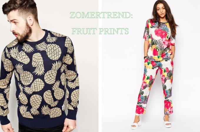 Zomer kleding met fruit print