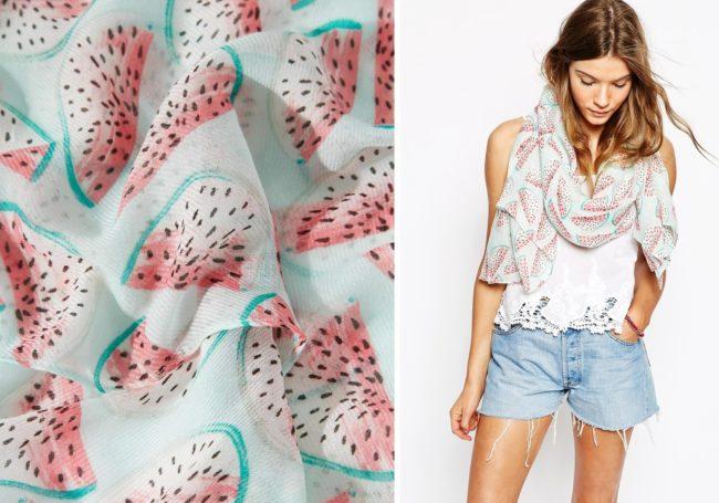 zomer_kleding_met_fruit_print_trend_watermelon_scarf_asos